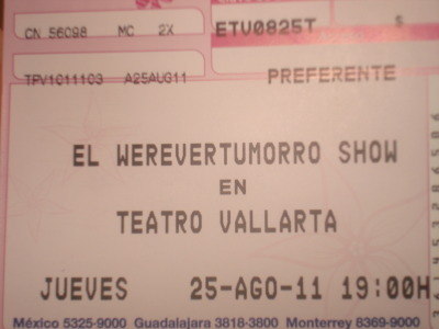 WEREVERTUMORRO SHOW!!!!!!!! <3