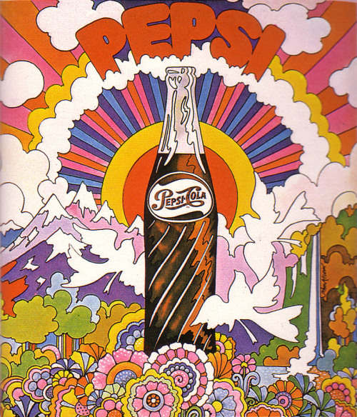 c86:  John Alcorn - Pepsi advertisement, 1969 via So Much Pileup