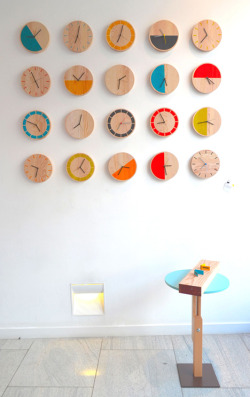 "colorfulhomes:  (via David Weatherhead's ""Primary Clocks"" at GOODD Ltd - Core77)  Totally inspiring :)"