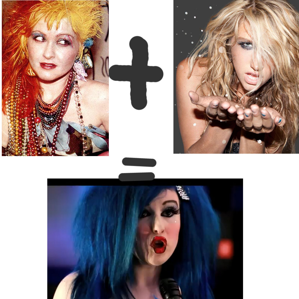 "Cyndi Lauper + Kesha=Oh! Kay http://www.youtube.com/watch?v=Dd49Lfkc9WQ *EDIT*He's playing a PS2, and the song is called ""Go Fuck Your Xbox"". Smooth. *NOTE*Example of lyrics;""If you want my cash, gotta suck my gash, gotta suck my gash.""WHAT THE FUCK."