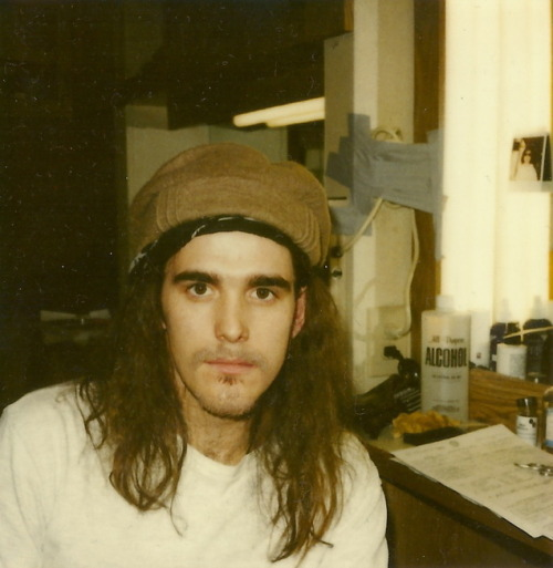 "From Cameron Crowe's WhoSay site: Just found this… Matt Dillon's hair test for Singles… 1991? (Photo © 2011 Cameron Crowe)""I shot the making-of-the-movie thing for Singles. The best moment was the day that Matt Dillon was trying on his Eddie Vedder wig. He was assuming the role of a hybrid Eddie Vedder/Chris Cornell. We all had to go and give our opinions on 120 wigs that they pulled. I remember Matt being very insecure. You know, Matt Dillon is Matt Dillon. He doesn't wear a wig. If anything, the guy plays himself, so he seemed super-uneasy with it."" —video director Josh Taft, from Everybody Loves Our Town: An Oral History of Grunge"