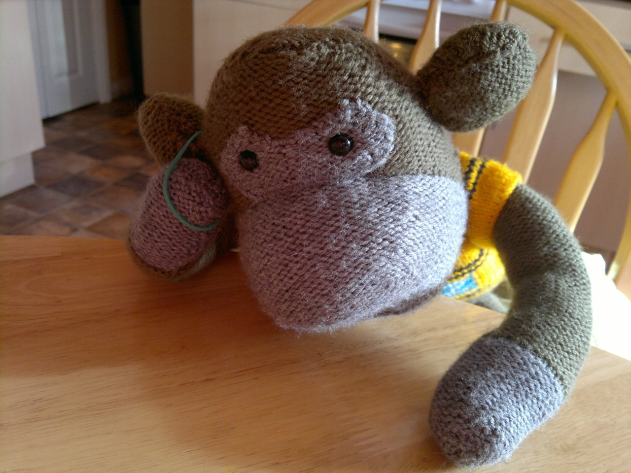 Its been a rough day for Monkey, poor guy had too much wine.