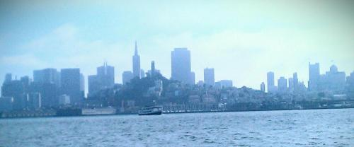 A rare view of the San Francisco skyline.