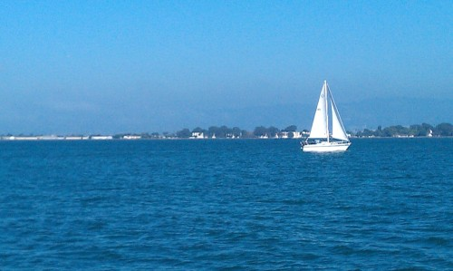 Sailing on the San Francisco Bay.