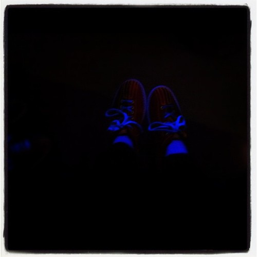 Glow in the dark bowling. Happy days (Taken with instagram)