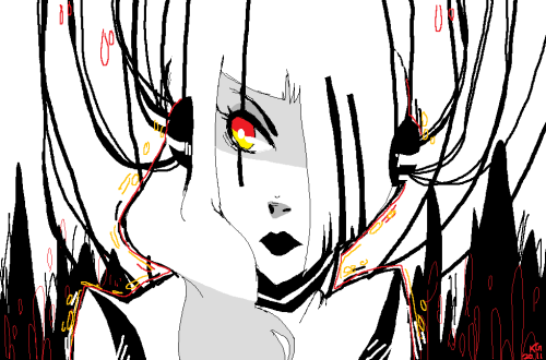 being sick is no fun. but drawing GLaDOS on ms apaint makes things much better :)