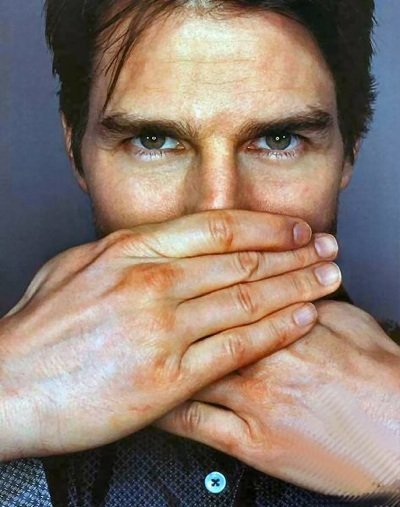 Tom Cruise, showing silence programming.