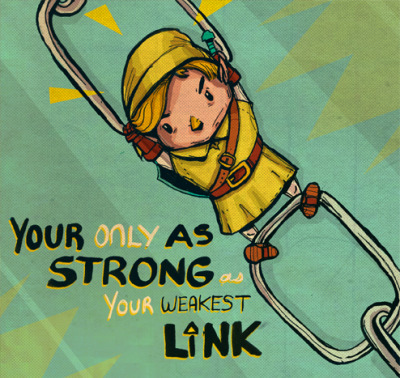hyrulechozo:  somewhereontheiceplanet:  The strongest Link by Juan Solon  Oh, I see what you did there…  This would be epically awesome if not for the your/you're mess up.