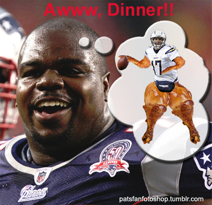 Look out Rivers, Wilfork see dinner!