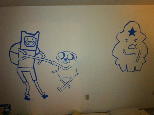 ADVENTURE TIME! my other wall haha.