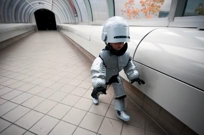 Little Robocop! So freaking adorable :)