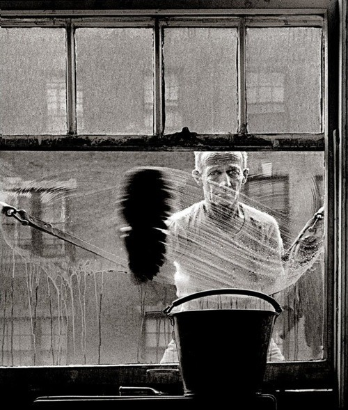 Norman Lerner. Window Washer 50s