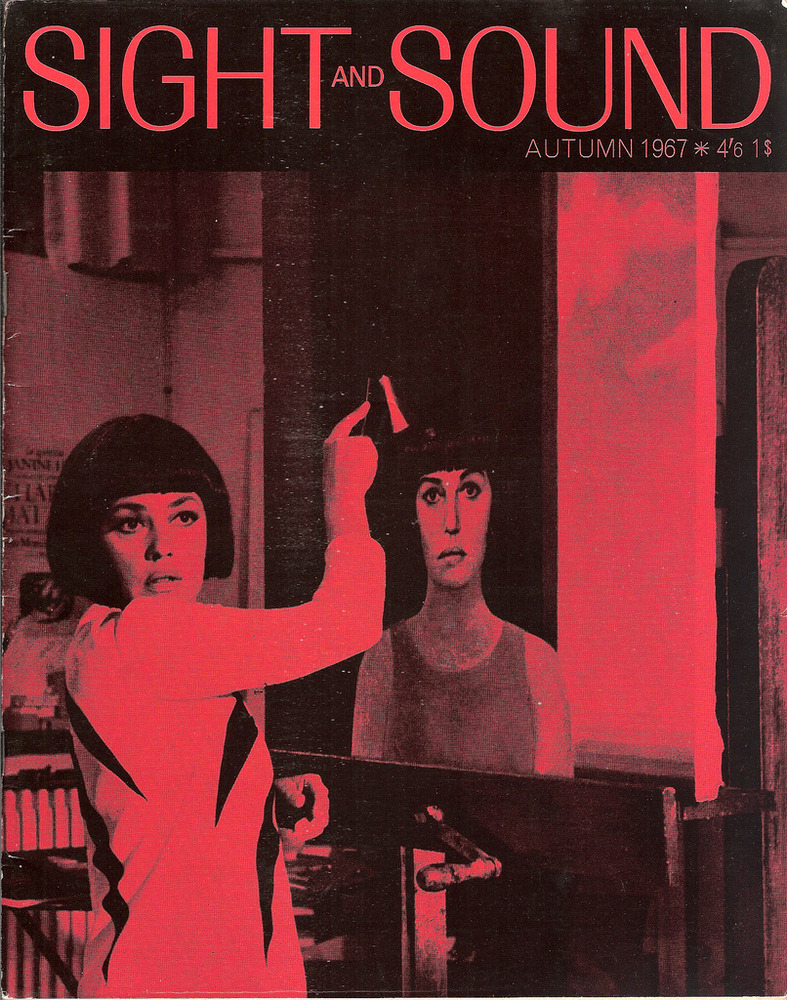 "Jeanne Moreau on the cover of Sight and Sound (the cinema magazine published by the British Film Institute), 1967. A scene from ""The Bride Wore Black"" (La Mariée était en noir) directed by François Truffaut."