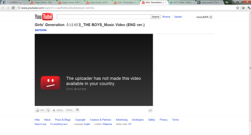 Why i cant watch Girls Generation The Boys English version ??? !!!