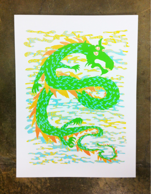 Color 4 of 5 on my Dragon art print.