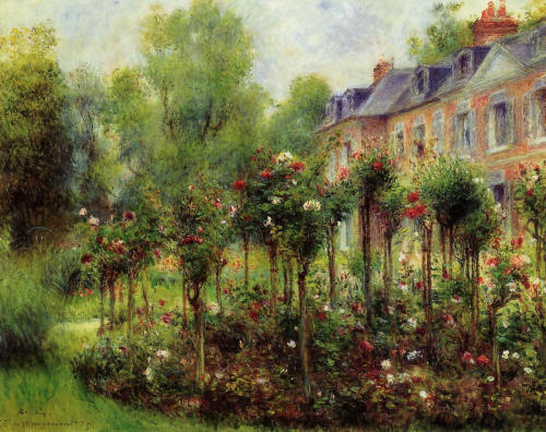 vintagerosegarden:  The Rose Garden at Wargemont - Pierre-Auguste Renoir - 1879