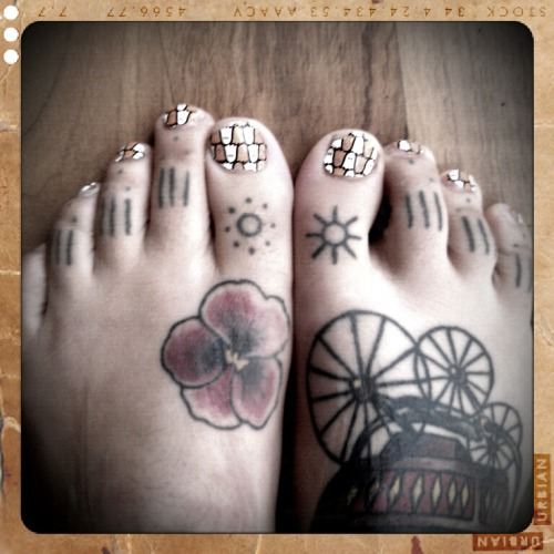 I've got ghosts on my toes.