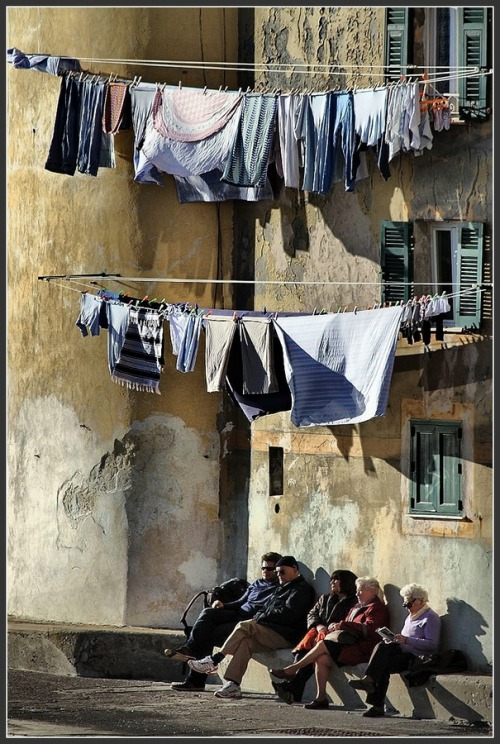 "Laundry day in Camogli, Italy (via 500px / Photo ""*"" by Antonio Andreatta)"