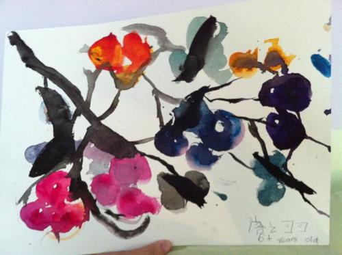 painted by my 6 year old cousin Maya