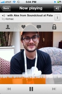 "Richard MacManus posted a great interview with the co-founder of SoundCloud. Here's an excerpt:   Consumption & Sharing of Audio SoundCloud never wanted to be just another podcasting platform, but (in Ljung's words) to be ""sound sharing the way it should've been."" SoundCloud users can - and do - upload any form of audio to the Web, from music demos to 1-2 minute soliloques and even snippets of phone conversations. To get to the level of YouTube, though, there will need to be a huge increase in consumption of SoundCloud content. The Facebook partnership, along with integration into other discovery platforms, is going to be crucial. But Ljung stressed that the SoundCloud platform itself already encourages its users to interact with content.  Each sound recording has a visual timeline bar and people can leave comments anywhere on the timeline. For example, at the 1:05 mark of a five minute recording, there may be a particularly striking piece of audio which attracted a lot of comments. So you might want to only listen to that specific part of the recording.    I love the concept of using SoundCloud for podcasts and letting the audience participate in conversations at specific parts of the podcast. ~Chao (@cli6cli6) Read the rest of the interview at Read Write Web"