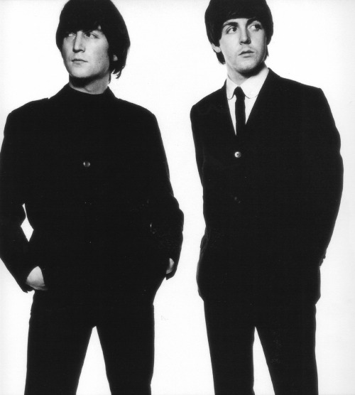 Lennon & McCartney. photo by David Bailey