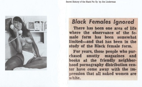 From Secret History of the Black Pin Up by Jim Linderman Available from Blurb.com The Untold history of women of color from tease to sleaze
