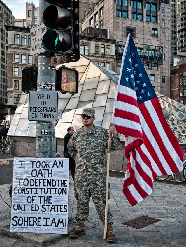 Image from Occupy Boston at Dewey Square near South Station (via Serving for Freedom | Tamagini Design Blog)
