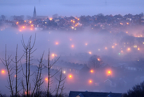 darklovelydeep:  (via fog, foggy, light, lights, mist, misty - inspiring picture on Favim.com on we heart it / visual bookmark #16108742)