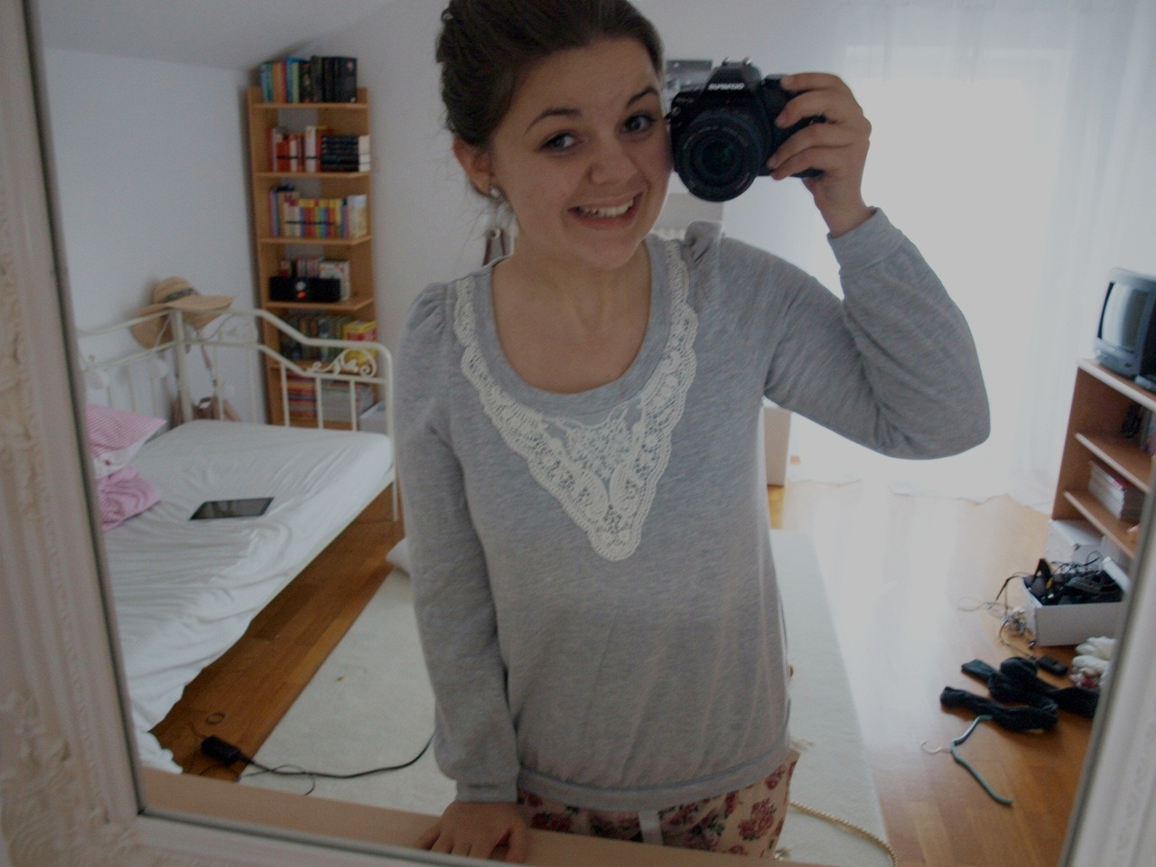 I basically look like a three year old in my pyjama. Not 16, no, 3 years old. And I also smile like 3 year old. And I don't wear any make-up. I am a 3 year old, I guess.