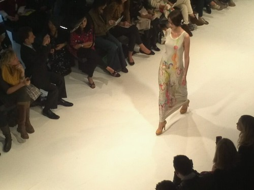 Loving the textile prints on Anu Raina's Collection. #LGFW