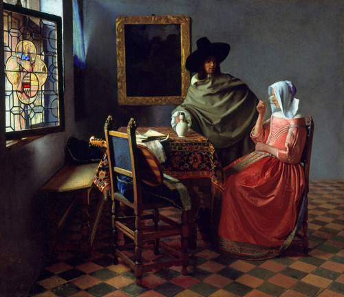 doloresdepalabra:   Jan Vermeer - Glass of Wine (1661).