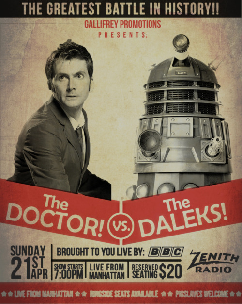 "YES!  everettsteele:  Do want: Doctor Who vs. The Daleks 1960's style poster. 16"" x 20"" poster for $20 on Etsy!"