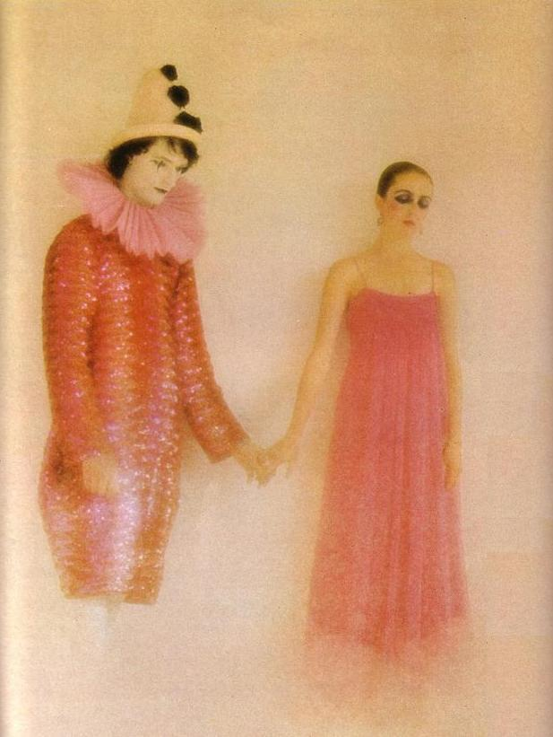 …vogue uk…photography by david bailey…december 1975…dress by gina fratini…modeled by marie helvin…xo…