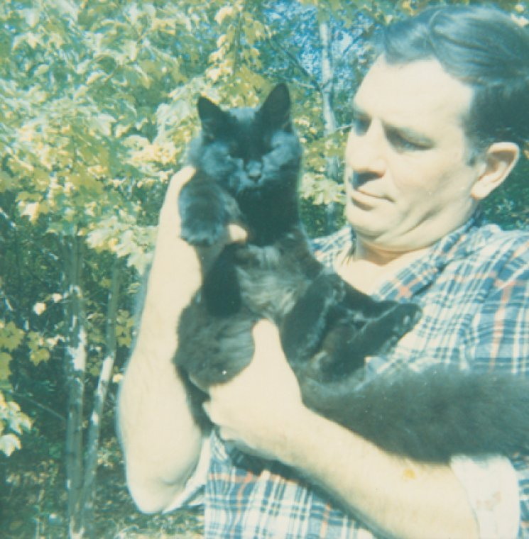 "Holding up mypurring cat to the moonI sighed. —Jack Kerouac, American Haiku, 1959When he wasn't ""on the road,"" famous writer Jack Kerouac was a self-avowed, cat-loving homebody. The photo above of Jack, taken by John Sampas, is from our Berg Collection of English and American Literature and is proof that he loved kitties. So happy Caturday! Thanks to our own Jeremy Megraw for finding this gem! Meanwhile, need inspiration? Wander through the Jack Kerouac Papers at NYPL and discover troves of unpublished fiction (""The Brooklyn Cat"")  and non-fiction (""Untitled,"" which involves observations on cat and human behavior). Thank you, nypl"
