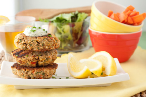 15 Minute Salmon Cakes with Freshly Made Tartar Sauce