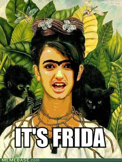 Rebecca Black as Frida Kahlo mmmmac415:  LMAO…  I had to…