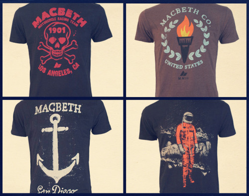 Some of the new tees I designed for the Macbeth Holiday11 Line. -SAM