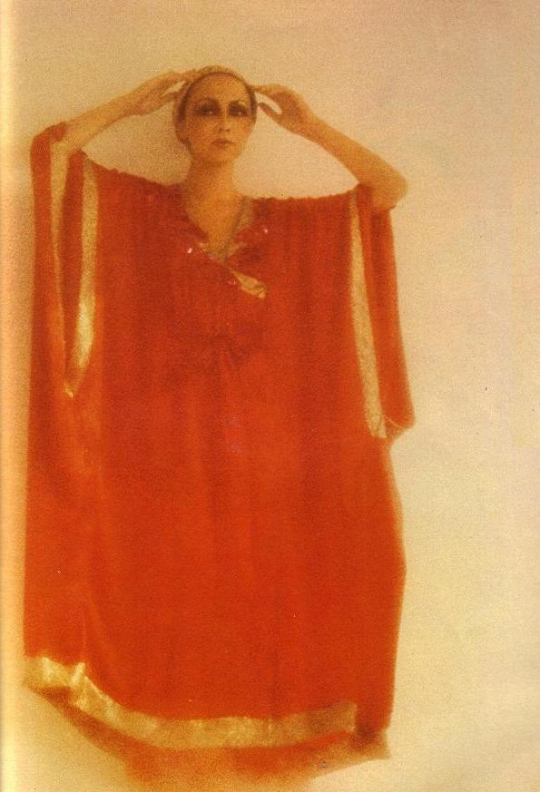 …photography by david bailey…vogue uk…december 1975…modeled by marie helvin…caftan by thea porter…
