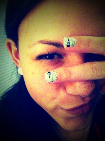 I'm silly. :) My crazy Halloween nails…BOO!