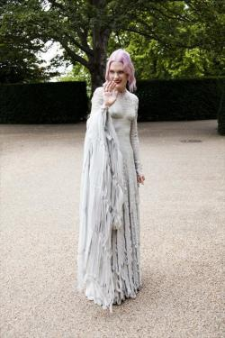 Katie Shillingford in her wedding dress by Gareth Pugh
