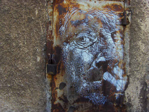 Thinking man's graffiti. (Via c215)