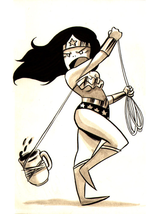 Coffee Wonder Woman
