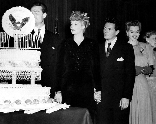 Lucille Ball, Red Skelton, John Garfield, and Maria Montez honor President Roosevelt's birthday.