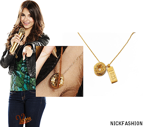 nickfashion:  Victoria Justice, Victorious Season 2 Love Loop Necklace Gold Vermeil, Mr. Kate - Price $58 *EXACT