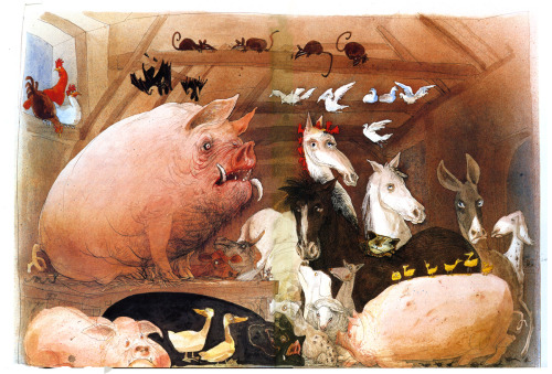 iamheretodisgustyou:  Animal Farm - Ralph Steadman