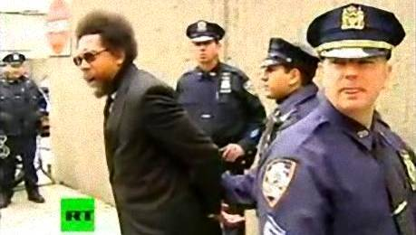 "cognitivedissonance:  Dr. Cornell West was arrested today protesting the NYPD's use of ""stop and frisk"" searches:  Princeton professor and noted activist Cornel West was arrested last weekend for protesting in front of the Supreme Court, and on Friday afternoon he repeated the experience in New York City. West was part of a demonstration against the New York Police Department's ""stop and frisk"" policy, in which individuals considered suspicious by the police are searched without due cause. According to Salon's Justin Elliott, the NYPD carried out 600,000 such searches last year, with 87% of the targets being black or Hispanic. Only 7% of the searches resulted in arrest, and critics of the policy say it does little to reduce crime and is probably unconstitutional.  Here's the speech he gave moments before the arrests began:  These searches, even if they yielded arrests the majority of the time, have enormous potential for abuse - evident with the NYPD's application of stop and frisk searches. To me, the searches are a morally reprehensible violation of a person's civil rights.  ""Injustice anywhere is a threat to justice everywhere."" - Dr. Martin Luther King Jr., Letter from Birmingham Jail, April 16, 1963  Keep fighting, folks. King wrote in the same letter, ""Freedom is never voluntarily given by the oppressor; it must be demanded by the oppressed."""