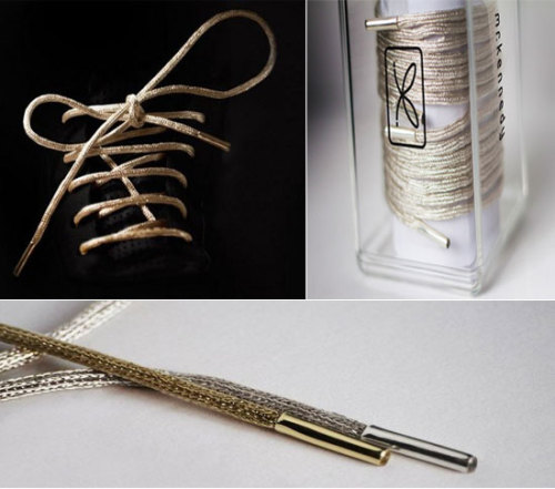 $19,000 Shoe Laces by Mr Kennedy embalmed with 14k gold…