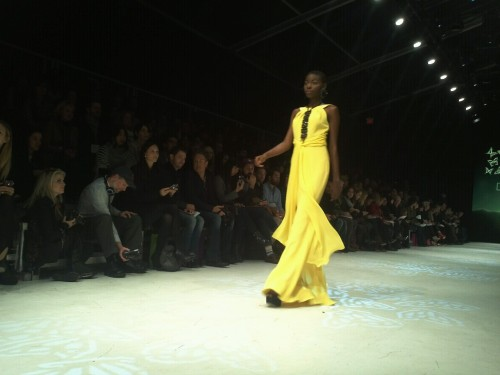 A splash of yellow. David Dixon. #LGFW
