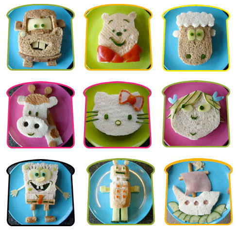 adorable sandwich ideas.