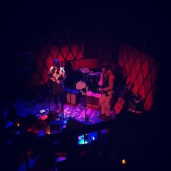 Live at PledgeMusic / Audio Perv / Music Unites CMJ showcase last night, with Tim. (Photo courtesy of Benji Rogers)